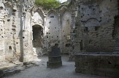 Valkenburg Netherlands-chamber at the ruins of an old castle