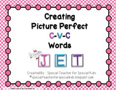 ($) C-V-C Fun activities and printables.  Magnets Make the Day Perfect!