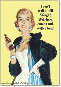 Weight Watchers Beer Card