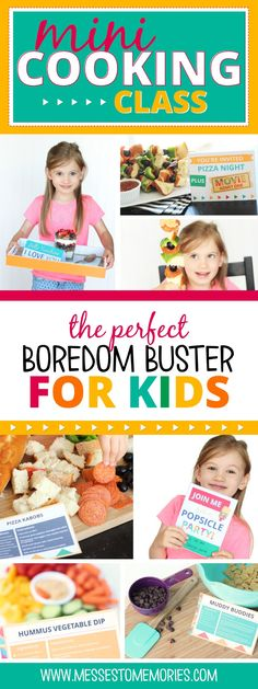 Mini Cooking Class - The perfect boredom buster for kids! Create some memories this summer! Cooking Gifts For Kids Cooking With Toddlers, Kids Cooking Recipes, Baking With Kids, Kids Meals, Cooking Tips, Cooking Games, Cooking Pork, Kid Cooking, Easy Cooking