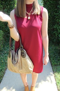 Crimson Dress via With Style and a Little Grace