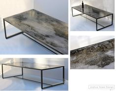 joshua howe design - acid treated mild steel with a lacquer and/or wax finish