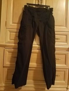 97329873192 Women's Medical/Dental Scrub Pants. Black LG barely worn. Excellent  condition! #