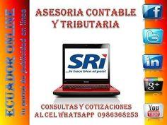 Asesoria Contable Asesoria Contable Talia Pazmiño #EcuadorOnline http://ift.tt/2hQLitB EVITA SANCIONES Y MULTAS CEL: 0986368253 http://ift.tt/2hQt4uh