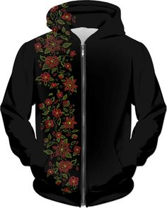 Sweatshirt Hooded Floral Totem DIY