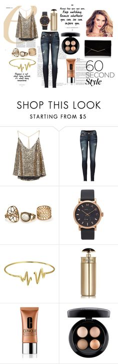 """""""Untitled #59"""" by geek-from-hell ❤ liked on Polyvore featuring True Religion, Marc Jacobs, Bling Jewelry, Prada, Clinique, MAC Cosmetics, Furla, DRAKE, views and 60secondstyle"""