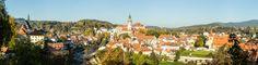 český krumlov panorama - český krumlov
