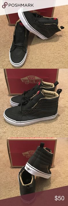 3d967ff625 Vans Military Twill SK8-Hi Reissue New in box. Black true white Vans. Van  ShoesWhite ...
