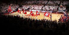 Loyal fans cheer on the Dayton Flyer's men's basketball team at the University of Dayton Arena. #goflyers #daytonflyers #daytonsports