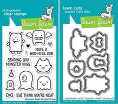 Lawn Fawn Monster Mash Clear Stamp and Die Set - Includes One Each of LF700 (Stamp) & LF701 (Die) - Custom Set Lawn Fawn http://www.amazon.com/dp/B00NFZQPIS/ref=cm_sw_r_pi_dp_FZy3ub14TPZ9K
