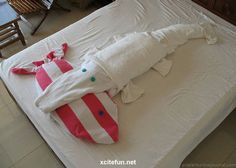 Towel Origami  Beautiful Hotel Art
