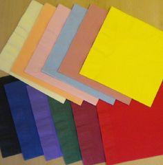 50 Top Quality 40cm 3 Ply Paper Napkins Charity Fundraising Colours Serviettes