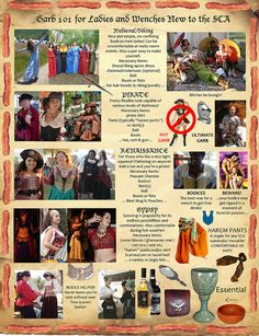 Helpful And Funny Guides For Renfaire vs SCA Attire. I don't agree with the Pirate and Gypsy sections. So basically half of it. Pirate, the vast majority, is out of period and they seem to think gypsy and middle eastern are the same thing.