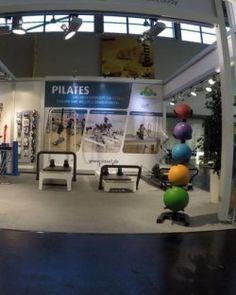 Unser Novacare/Sissel Stand auf der FIBO 2016 in Köln: Sissel Produkte und Pilates Reformer von Balanced Body