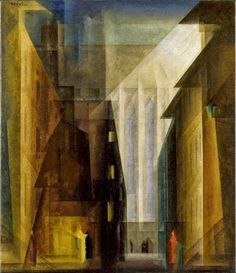 Lyonel Feininger, Iglesia de las Minorías III, Walker Art Center, Minneapolis, Minnesota, 1926  Carmen Pinedo Herrero: Lyonel Feininger: el romanticismo elevado al cubo