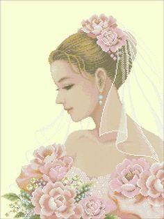 Вышивка крестом невеста. Схемы вышивки невеста | Я Хозяйка
