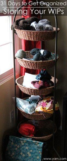 31 Days to Get Organized –Storage ideas for your knitting & crochet works in progress