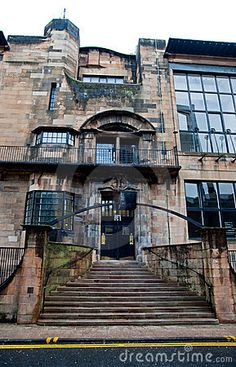 The Mackintosh building at the Glasgow School of Art was designed by Charles Rennie Mackintosh, an alumnus of the college.