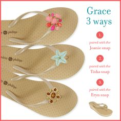 EVA wedged flip flop with interchangeable snaps! #StyleInASnap #LindsayPhillips