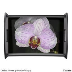 Orchid Flower Serving Tray