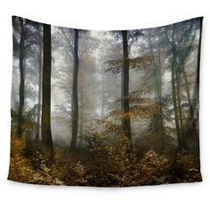 "Brown Gray Iris Lehnhardt Forest Mystics Wall Tapestry (51""x60"") - Kess InHouse : Target"