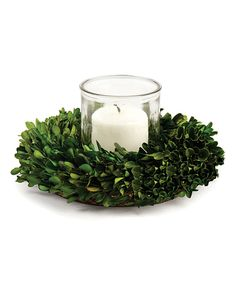 Look what I found on #zulily! Boxwood Candleholder Wreath by Napa Home & Garden #zulilyfinds