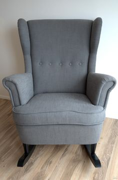 IKEA Hack: Strandmon Rocker {DIY Wingback Rocking Chair}. This is happening for baby #2!