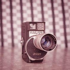 Holiday Zoom 8mm Movie Camera by Mansfield - 1960s - Vintage Movie Maker. $30.00, via Etsy.