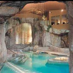 Indoor grotto pool