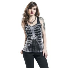 """Top donna """"Ribs And Bones"""" del brand Outer Vision."""