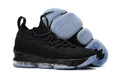 premium selection 3ca70 3a6e0 2018 New Style Nike LeBron 15 Mens Original Basketball Shoes Sneakers Coal  Black White Lebron 15