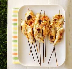 Perfect BBQ food: Chicken kebabs