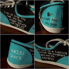TFiOS Painted Shoes - Quotes - Fandom - John Green - Fan Art - The Fault in Our Stars - Hazel Grace - Augustus Waters - OKAY - DFTBA - Nerd