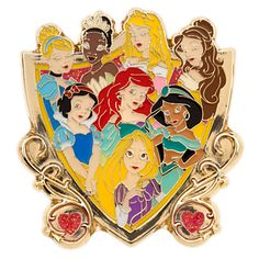 Disney Princess Pin | Disney StoreDisney Princess Pin - Share the spotlight with eight favorite fairy tale heroines when adding this cloisonne royal crest pin to your Disney Princess collection.