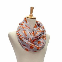 GBSELL Lady Womens Fox Print Voile Shawl Spring Scarf(Gray). Material:Voile. Size: 90cm*180cm. Its special design will make you look unique. It is a good gift for your lover,family,friend and coworkers. Can be worn around the neck, head, hair and waist; on handbags and hats.