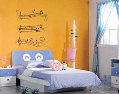 Musical Music Notes Silhouette -   Vinyl Decal Wall Art Silhouette
