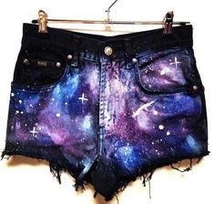 Add a galaxy print. | A Comprehensive Guide To Making The Cutoffs Of Your Dreams