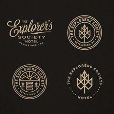 fe893c06 The Explorers Society Hotel Baum Logos, Hotel Branding, Logo Branding,  Hotel Logo,