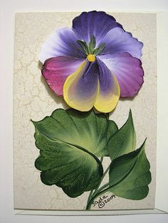 The Botanical Collection Note Card - Pansy | Hand painted no… | Flickr