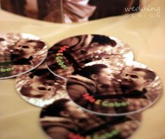 Coasters for wedding favour - Poháralátét köszönetajándékba Wedding Favours, Wedding Designs, Coasters, Favors, Desserts, Food, Tailgate Desserts, Presents, Deserts
