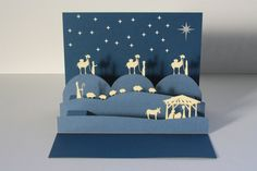 pop up nativity scene – Origami Pop Up Christmas Cards, Christmas Pops, Xmas Cards, Kids Christmas, Diy Cards, Handmade Christmas, Kirigami, Diy Nativity, Pop Up Greeting Cards