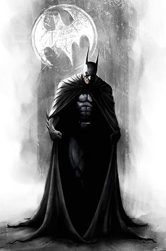 Batman // artwork by Castern Bienart (2011) I love this but ... I need some color I think.