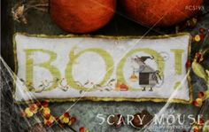 Scary Mouse is the title of this cross stitch pattern from With Thy Needle and Thread that is stitched with Gentle Art Sampler threads