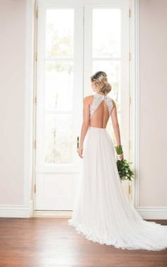 6707 Boho Wedding Dress with French Tulle by Stella York Lace Wedding Dress, Open Back Wedding Dress, Bridal Dresses, Backless Wedding, Stella York Wedding Gowns, Designer Wedding Gowns, Wedding Dress Pictures, Affordable Wedding Dresses, Marie