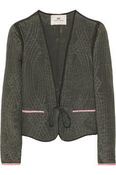 DAY Birger et Mikkelsen Quilted satin-twill jacket NET-A-PORTER.COM