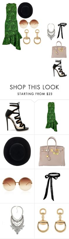 """""""09/04/17"""" by daydreamingpisces ❤ liked on Polyvore featuring Jimmy Choo, House of Holland, Eugenia Kim, Hermès, Linda Farrow and Gucci"""