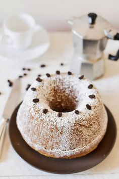Coffee and chocolate Bundt cake