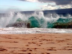 Big Beach - Maui. the huge waves! Can't forget them.