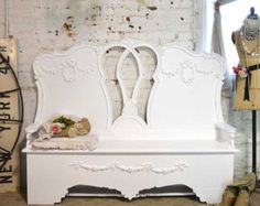 Painted Cottage Chic Shabby French Handmade BenchCHR104