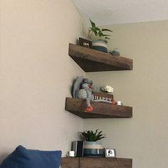 Wood Floating Shelves, Floating Wall, Rustic Shelves, Built In Shelves, Wooden Shelves, Corner Wine Rack, Wine Rack Wall, Wood Wine Racks, Wood Rack